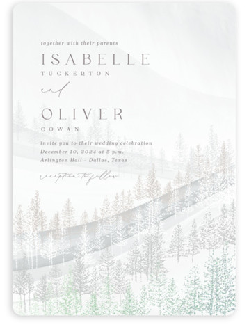 Wonderland Foil-Pressed Wedding Invitations