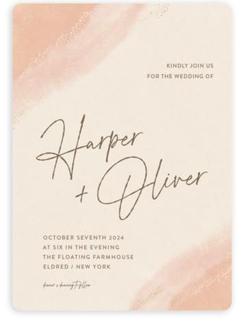 empyrean Foil-Pressed Wedding Invitations