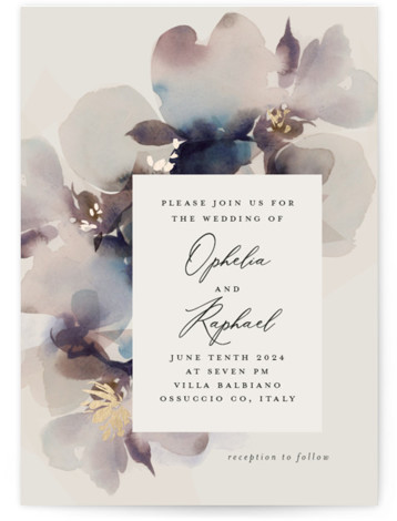 Ethereal Foil-Pressed Wedding Invitations