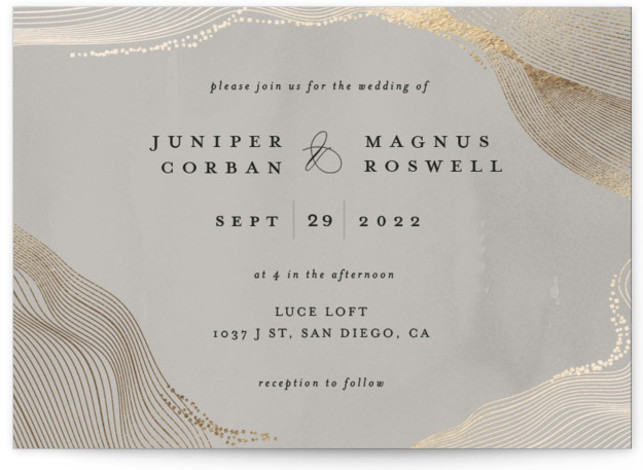 Ethereal Romance Foil-Pressed Wedding Invitations