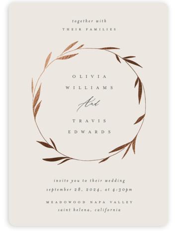 Minimal Circle Wedding Invitations