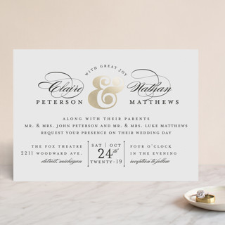 Dapper Amper Foil-Pressed Wedding Invitations