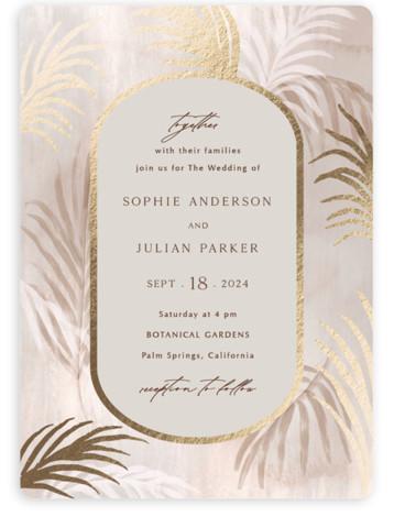 Palm Springs Foil-Pressed Wedding Invitations