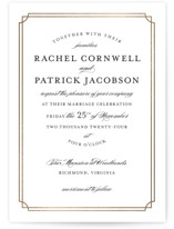 Luxe Border Foil-Pressed Wedding Invitations