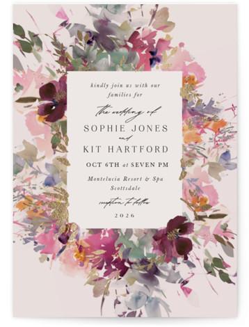 Fleur Foil-Pressed Wedding Invitations