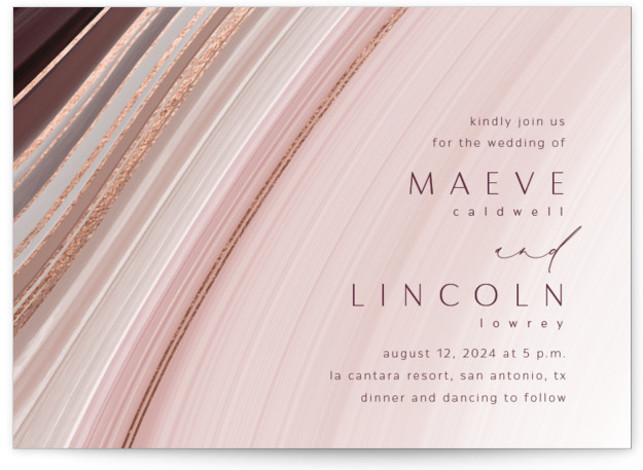 chiffon Foil-Pressed Wedding Invitations
