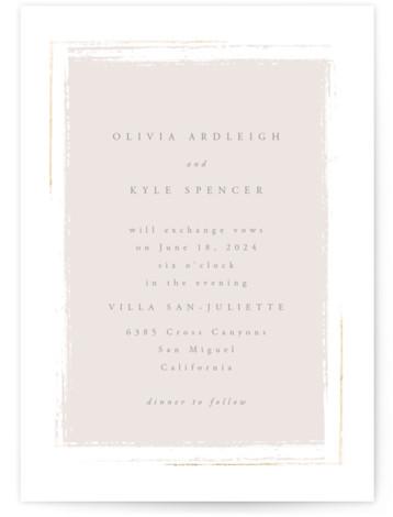 Minimalista Foil-Pressed Wedding Invitations