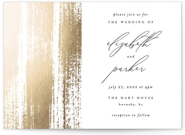 Brushed Accent Foil-Pressed Wedding Invitations