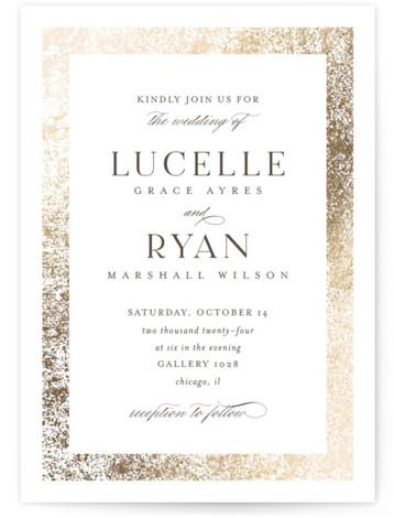 Inlay Foil-Pressed Wedding Invitations