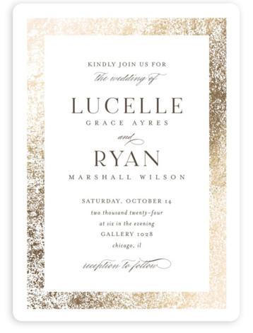 Inlay Wedding Invitations
