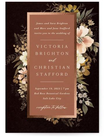 Midnight Spring Foil-Pressed Wedding Invitations