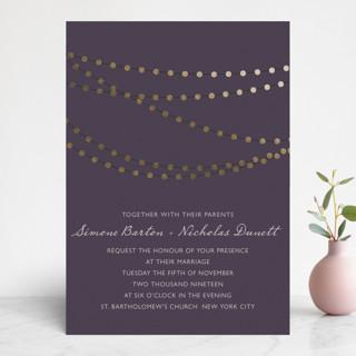 Midnight Vineyard Foil-Pressed Wedding Invitations