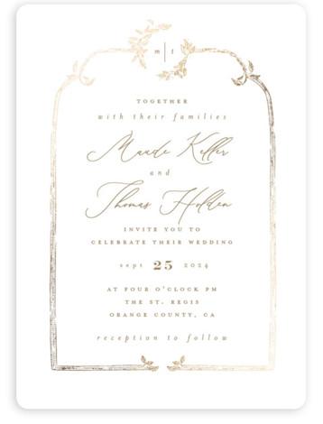 Reflection Foil-Pressed Wedding Invitations