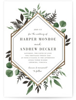 Shade Garden Foil-Pressed Wedding Invitations