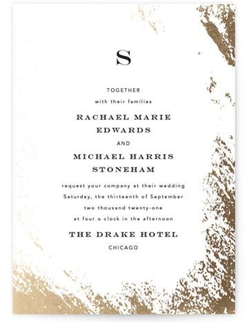 Edgy Charm Foil-Pressed Wedding Invitations