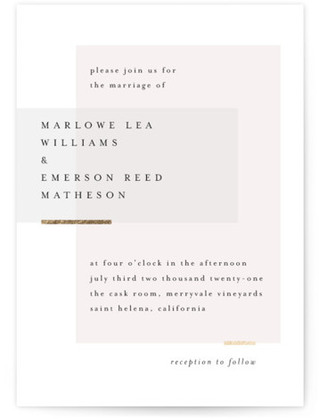 Clean and Modern Foil-Pressed Wedding Invitations