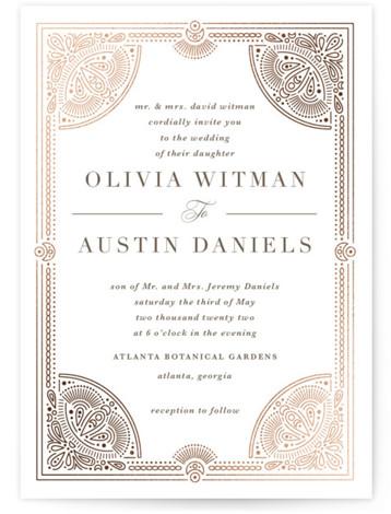 Adorn Foil-Pressed Wedding Invitations