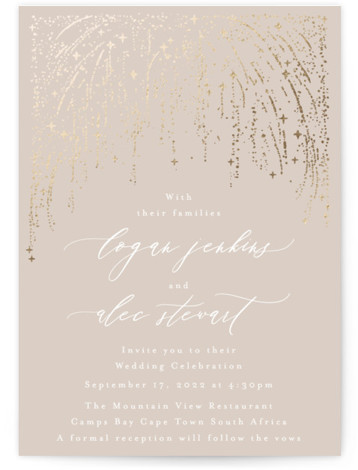 Starry Sky Foil-Pressed Wedding Invitations