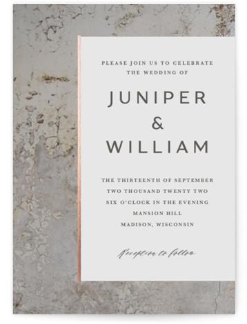 Juniper Foil-Pressed Wedding Invitations
