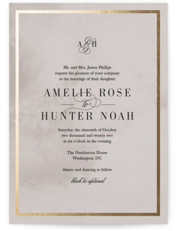 Polished Foil-Pressed Wedding Invitations