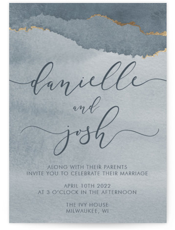 Dreamy Foil-Pressed Wedding Invitations