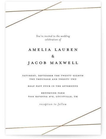 Minimal Shine Foil-Pressed Wedding Invitations