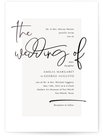 Mingle Foil-Pressed Wedding Invitations
