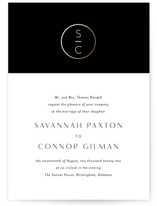 New Monogram Foil-Pressed Wedding Invitations