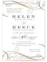 Sofisticato Foil-Pressed Wedding Invitations