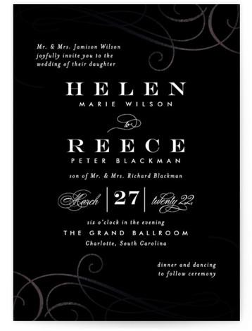 Sofisticato Foil-Pressed Wedding Invitations