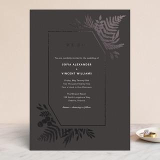 Garden Foil-Pressed Wedding Invitations