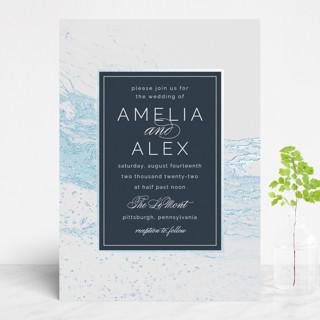 Classic Splash Foil-Pressed Wedding Invitations