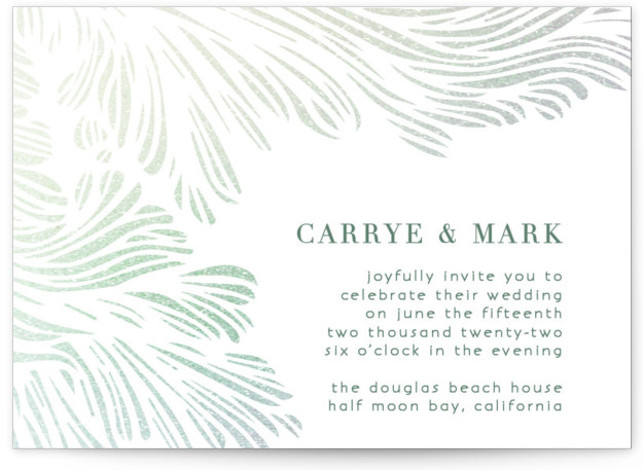 Shining Sea Foil-Pressed Wedding Invitations
