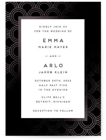 jazz classic Foil-Pressed Wedding Invitations