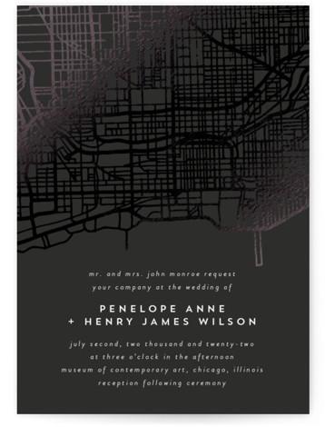 Chicago Foil-Pressed Wedding Invitations
