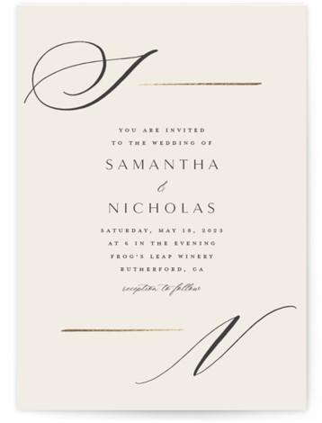 Eloquent Foil-Pressed Wedding Invitations