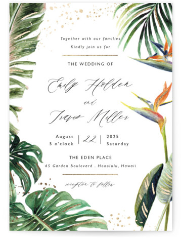 Our Paradise Foil-Pressed Wedding Invitations