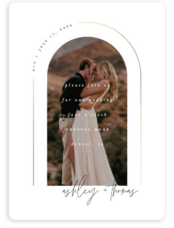 Arch Foil-Pressed Wedding Invitations