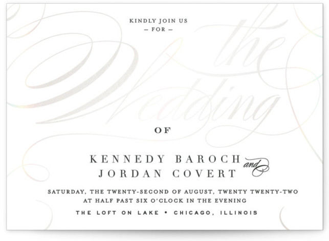 Filigree Gloss Press Wedding Invitations