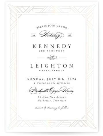 Opulent Border Gloss Press Wedding Invitations