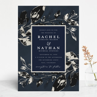Midnight Vines Gloss-Press™ Wedding Invitation