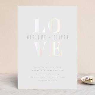 Understated Love Gloss-Press™ Wedding Invitation