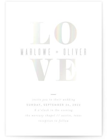 Understated Love Gloss Press Wedding Invitations