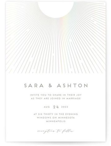 Supernova Gloss Press Wedding Invitation