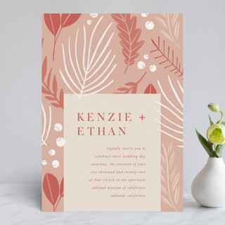 Novel Charm Gloss-Press™ Wedding Invitation