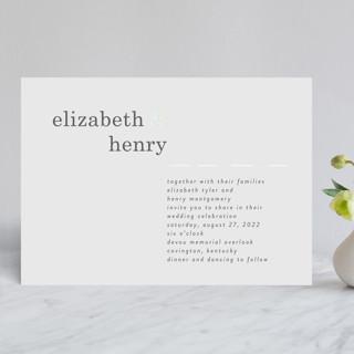 Textbook Gloss-Press® Wedding Invitation