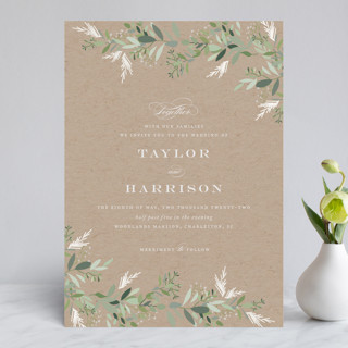 Trailing Vine Gloss-Press™ Wedding Invitation