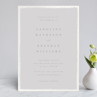 Painted Frame Gloss-Press™ Wedding Invitation