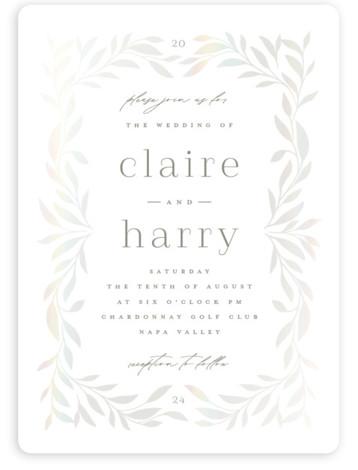 Clarity Gloss Press Wedding Invitation