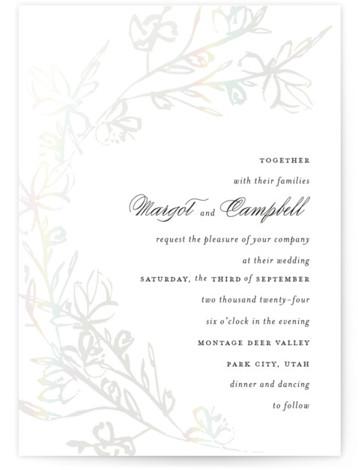Daydream Gloss Press Wedding Invitation